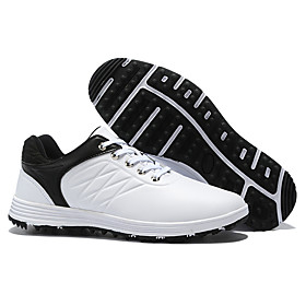 Men's Golf Shoes Breathable Anti-Slip Sweat-wicking Comfortable Golf Outdoor Exercise Spring, Fall, Winter, Summer Black / Red White Black Blue / White
