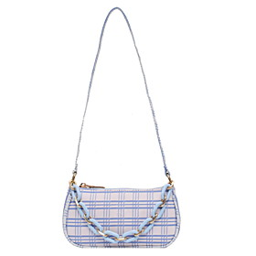 Women's Bags PU Leather / Polyester Crossbody Bag Zipper Chain Solid Color for Daily White / Black / Blue / Purple