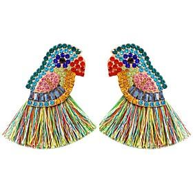 Women's Hoop Earrings Geometrical Precious Earrings Jewelry Rainbow For Daily 1 Pair