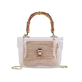 Women's Bags PU Leather Crossbody Bag Solid Color for Daily Black / Khaki / Beige