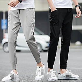 Men's Joggers Jogger Pants Track Pants Sports  Outdoor Athleisure Wear Bottoms Pocket Drawstring Elastane Fitness Running Jogging Training Breathable Quick Dry