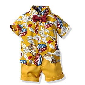 Kids Toddler Boys' Basic Print Short Sleeve Clothing Set White Fabric:Cotton; Sleeve Length:Short Sleeve; Gender:Boys'; Style:Basic; Kids Apparel:Clothing Set; Age Group:Toddler,Kids; Pattern:Print; Front page:FF; Listing Date:06/04/2020; Bust:; Length [Bottom]:; Length [Top]: