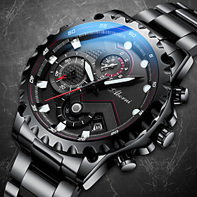 Men's Mechanical Watch Automatic self-winding Modern Style Sporty Steampunk Water Resistant / Waterproof Analog WhiteBlue White Black / Stainless Steel / Calen