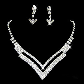 Women's Jewelry Set Bridal Jewelry Sets Geometrical Precious Fashion Silver Plated Earrings Jewelry Silver For Christmas Wedding Halloween Party Evening Gift 1 Gender:Women's; Quantity:1 set; Theme:Precious; Shape:Geometric; Style:Fashion; Jewelry Type:Jewelry Set,Bridal Jewelry Sets; Occasion:Halloween,Gift,Christmas,Wedding,Party Evening; Material:Alloy,Silver Plated,Rhinestone; Design:Geometrical; Brand:Lucky Doll; Shipping Weight:0.035; Listing Date:01/12/2021