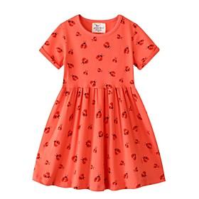 Kids Girls' Animal Dress Orange