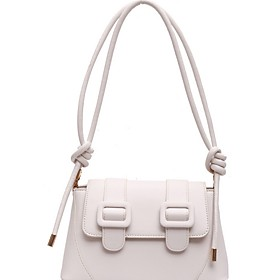 Women's Bags PU Leather Crossbody Bag Zipper Solid Color for Daily White / Black / Khaki