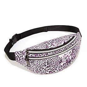 Women's Bags PU Leather Fanny Pack Zipper Floral Print for Daily Black / Blue / Purple / Red