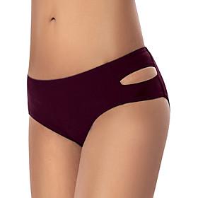 Women's High-Waisted Bikini Bottoms Swimsuit High Waist Solid Colored Swimwear Bathing Suits Black Purple Green Navy Blue