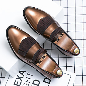 Men's Loafers  Slip-Ons Casual Daily Walking Shoes PU Breathable Non-slipping Wear Proof Blue / Brown Summer