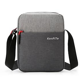 Men's Bags Nylon Crossbody Bag Zipper Color Block for Daily Black / Blue / Fuchsia / Gray