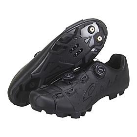 SIDEBIKE Adults' Bike Shoes Breathable Ultra Light (UL) Mountain Bike MTB Cycling / Bike Recreational Cycling Black Red Men's Women's Cycling Shoes