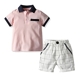 Kids Boys' Basic Plaid Short Sleeve Clothing Set Blushing Pink Fabric:Cotton; Sleeve Length:Short Sleeve; Gender:Boys'; Style:Basic; Kids Apparel:Clothing Set; Age Group:Kids; Pattern:Plaid; Front page:FF; Listing Date:06/02/2020; Bust:; Length [Bottom]:; Length [Top]: