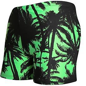 Men's Beach board shorts Swimsuit Print 3D Swimwear Bathing Suits Green