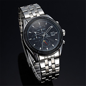 Men's Mechanical Watch Automatic self-winding Fashion Water Resistant / Waterproof Analog Black / Silver WhiteSilver / One Year / Stainless Steel / Calendar /