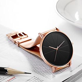 Men's Dress Watch Quartz Stylish Casual Calendar / date / day Analog Black / Silver BlackGloden Black / One Year / Titanium Alloy