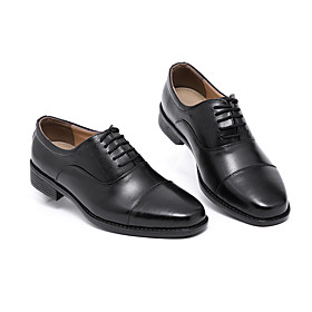 Men's Spring / Fall Casual / British Wedding Party  Evening Oxfords Faux Leather Breathable Non-slipping Black / Square Toe