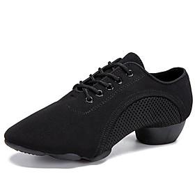 Men's Dance Shoes Modern Shoes / Ballroom Shoes / Line Dance Heel Cuban Heel Black / Performance