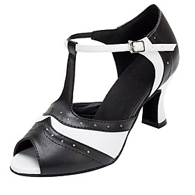Women's Latin Shoes Ballroom Shoes Line Dance Heel Cuban Heel Black Category:Ballroom Shoes,Latin Shoes,Line Dance; Upper Materials:PU; Heel Type:Cuban Heel; Gender:Women's; Style:Heel; Outsole Materials:Rubber; Occasion:Performance; Listing Date:06/18/2020; Foot Length:; Size chart date source:Provided by Supplier.