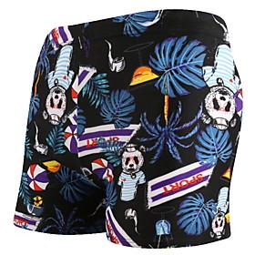 Men's Beach board shorts Swimsuit Print 3D Swimwear Bathing Suits Black