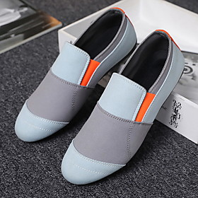 Men's Loafers  Slip-Ons Casual Daily Walking Shoes Elastic Fabric Breathable Non-slipping Wear Proof Black / Light Grey Summer