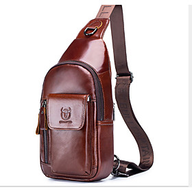 Men's Bags Cowhide Crossbody Bag 3 Pcs Purse Set Zipper for Daily / Office  Career Black / Brown / Coffee