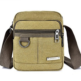 Men's Bags Canvas Crossbody Bag for Daily / Outdoor Black / Blue / Khaki / Green