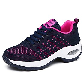 Women's Trainers / Athletic Shoes Summer Flat Heel Round Toe Daily Solid Colored Tissage Volant Black / Purple / Red
