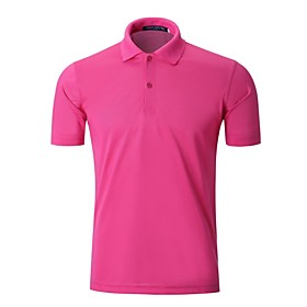 Men's 1 Piece Golf Polos Shirt Fashion Breathable Quick Dry Soft Summer Athleisure Outdoor / Cotton / Short Sleeve / Stretchy