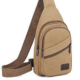 Men's Bags Canvas Sling Shoulder Bag for Daily / Outdoor Black / Blue / Army Green / Khaki