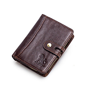 Men's Bags Nappa Leather Coin Purse Zipper for Shopping / Daily Light Coffee / Black / Fall  Winter