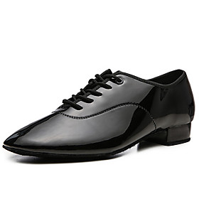 Men's Modern Shoes Heel Thick Heel Leather White / Black