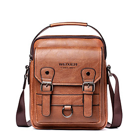 Men's Bags PU Leather Briefcase for Daily / Office  Career Dark Brown / Brown