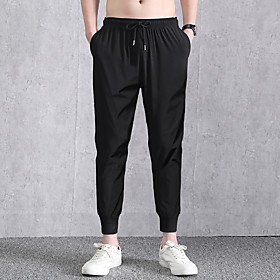 Men's Joggers Jogger Pants Track Pants Athleisure Wear Bottoms Elastane Fitness Gym Workout Basketball Running Cycling Breathable Quick Dry Moisture Wicking Sp