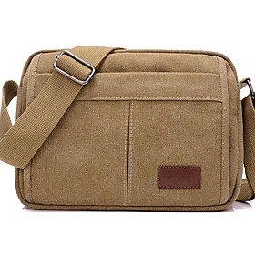 Men's Bags Canvas Crossbody Bag for Daily / Outdoor Black / Blue / Army Green / Khaki