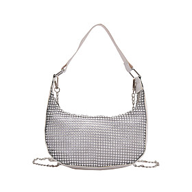 Women's Bags Crossbody Bag Crystals Chain for Daily / Holiday Black / Silver / Fall  Winter
