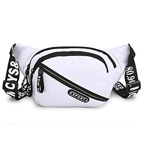Men's Bags Polyester Fanny Pack Zipper Solid Color for Daily White / Black / Blue / Red