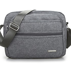 Men's Bags Canvas Crossbody Bag for Daily / Outdoor Black / Dark Blue / Gray