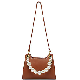 Women's Bags PU Top Handle Bag for Daily White / Black / Blue / Purple