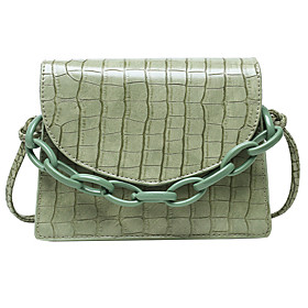 Women's Bags Polyester Top Handle Bag Chain for Daily / Office  Career White / Black / Purple / Green / Fall  Winter