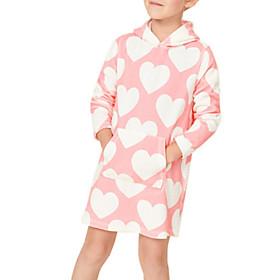 Toddler Girls' Heart Long Sleeve Dress Blushing Pink