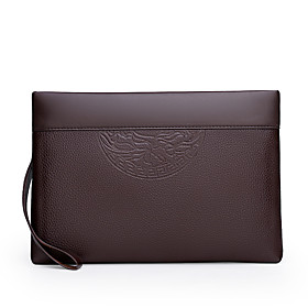 Men's Bags PU Leather Clutch Zipper for Daily / Outdoor Black / Brown / Wedding Bags / Wedding Bags / Fall  Winter