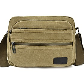 Men's Bags Canvas Crossbody Bag for Daily / Outdoor Black / Army Green / Khaki / Coffee