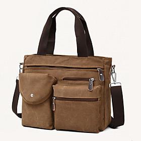 Men's Bags Polyester Crossbody Bag Zipper for Daily Black / Khaki / Gray / Coffee