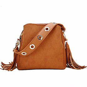Women's Bags PU Leather / Polyester Top Handle Bag 4 Pieces Purse Set Tassel Zipper for Event / Party / Daily Black / Red / Green / Brown / Fall  Winter