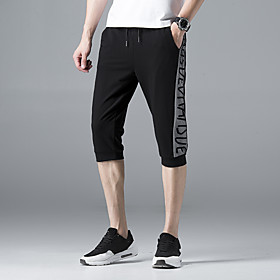Men's Joggers Jogger Pants Running Cropped Pants Track Pants Athleisure Wear Capri Pants Bottoms Cotton Fitness Gym Workout Basketball Running Cycling Breathab