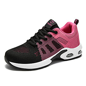 Women's Trainers / Athletic Shoes Summer Fall Flat Heel Round Toe Sporty Basic Daily Outdoor Lace-up Tissage Volant Running Shoes Fitness  Cross Training Shoes