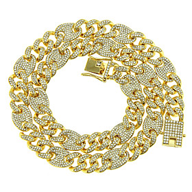 Men's Chain Necklace Necklace Cuban Link Lucky Classic Punk Trendy Fashion Chrome Gold Silver 46 cm Necklace Jewelry 1pc For Anniversary Party Evening Prom Str