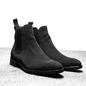 Men's Boots Work Boots Outdoor PU Non-slipping Mid-Calf Boots Dark Grey / Black / Yellow Winter
