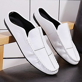 Men's Boat Shoes Daily PU White / Black Summer