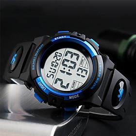 Men's Sport Watch Wrist Watch Digital Watch Digital Fashion Water Resistant / Waterproof Digital Black Red Blue / Quilted PU Leather / Japanese / Alarm / Calen